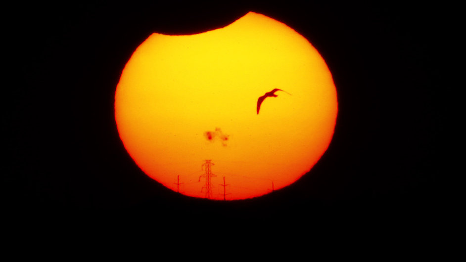 Zatmění slunce v USA.