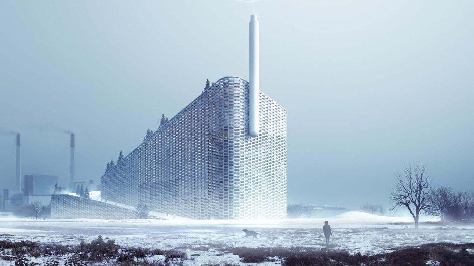 Vizualizace kodaňské spalovny Amager Bakke