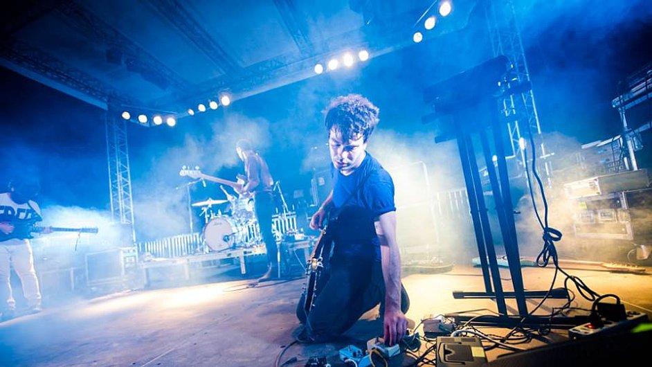 Snímek z vystoupení kapely Viet Cong na festivalu Beaches Brew.