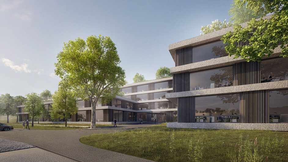 Vizualizace nové budovy ČSOB, kterou v Radlicích nechce Občanské sdružení zelené Čechy.