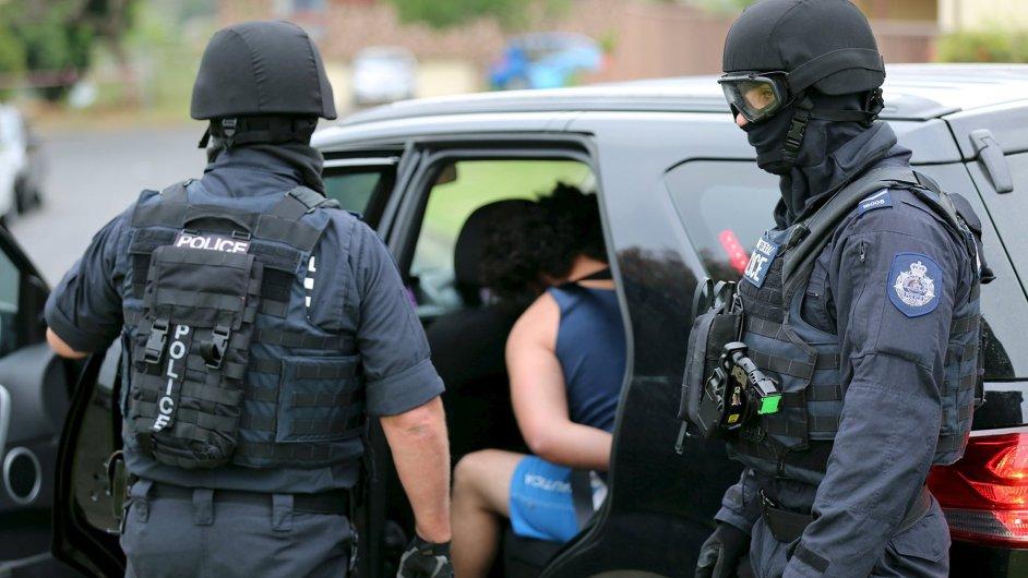 Policie, zátah, Austrálie, Sydney