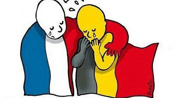 Bruselsk� �toky vyvolaly vlnu solidarity