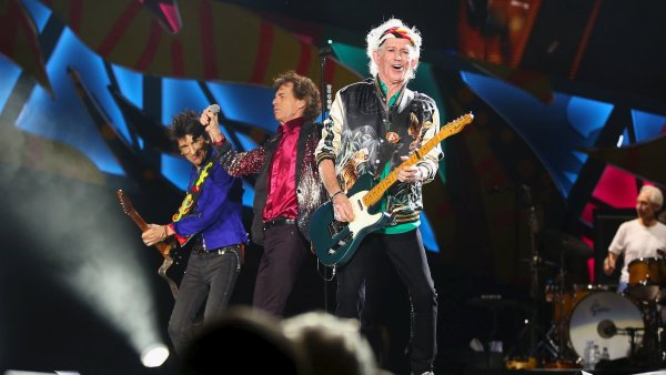 Rockov� kapela The Rolling Stones p�i koncert� v Havan�.