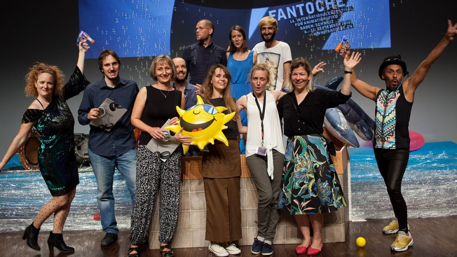 Snímek z vyhlášení cen na švýcarském festivalu Fantoche, kde uspěl tuzemský projekt Strom výtvarnice Lucie Sunkové.