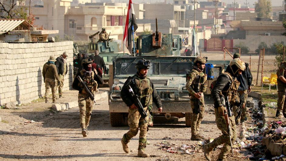 Irák, Mosul, Irácké jednotky dobyly další části Mosulu.