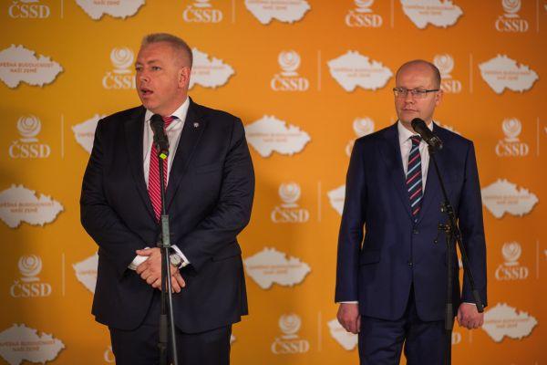 ČSSD sjezd, Chovanec a Sobotka