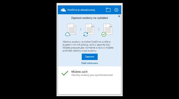 OneDrive soubory na vyžádání