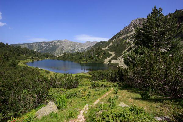 Dolné Vasilaškovo jezero je jedno z nejhezčích jezer Pirinu. Kazí ho jen velmi otravní komáři.