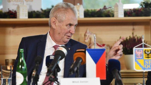 Prezident Miloš Zeman během své návštěvy v Olomouckém kraji.