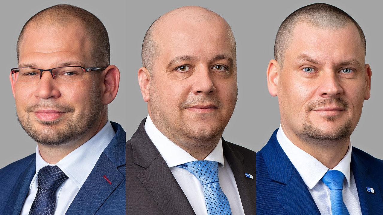 Václav Elman, generální ředitel skupiny SSI Group, Radoslav Kavulič, personální ředitel, Michal Cícer, ředitel útvaru