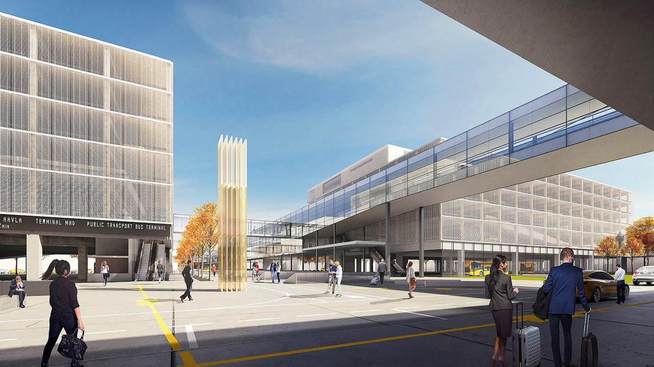 Do11. června mají cestující anávštěvníci Letiště Václava Havla Praha možnost zhlédnout výstavu návrhů naarchitektonické řešení nového veřejného prostoru před rozšířeným Terminálem 2.