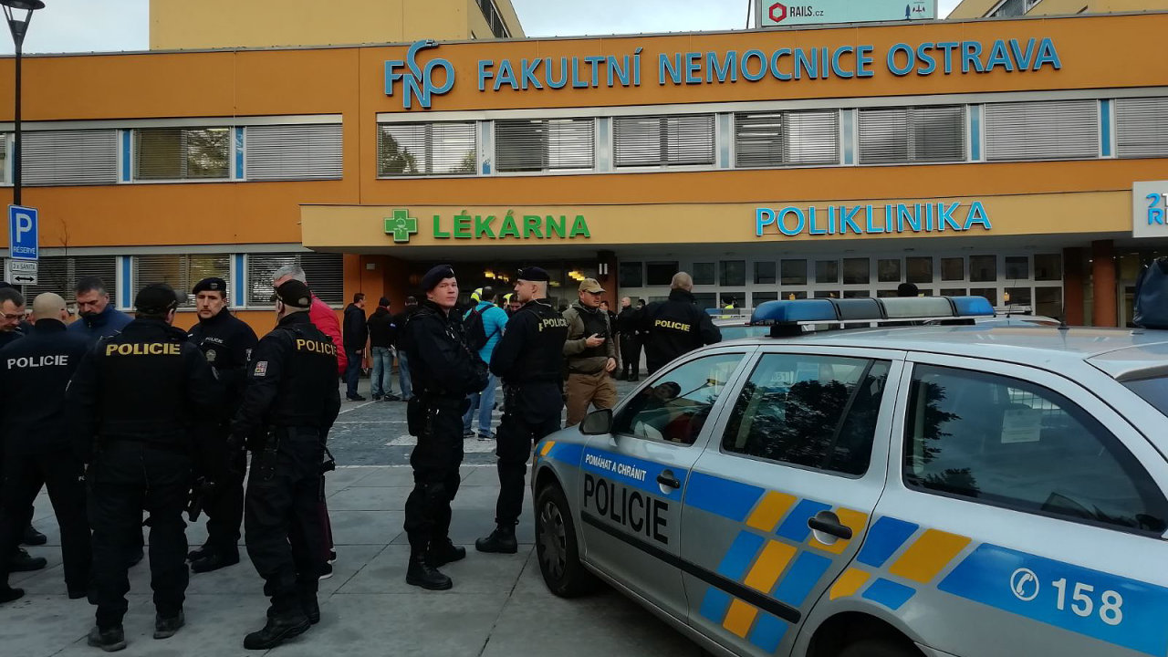 Střelba ve FN Ostrava.