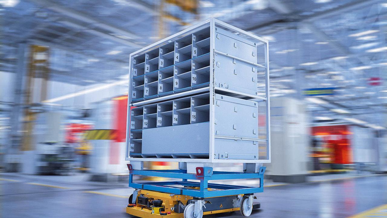 BMW vyvinulo vespolupráci sFraunhoferovým institutem inteligentní vozík STR (Smart Transport Robot).
