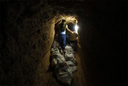 tunel, Gaza, Palestina, Egypt, pašování