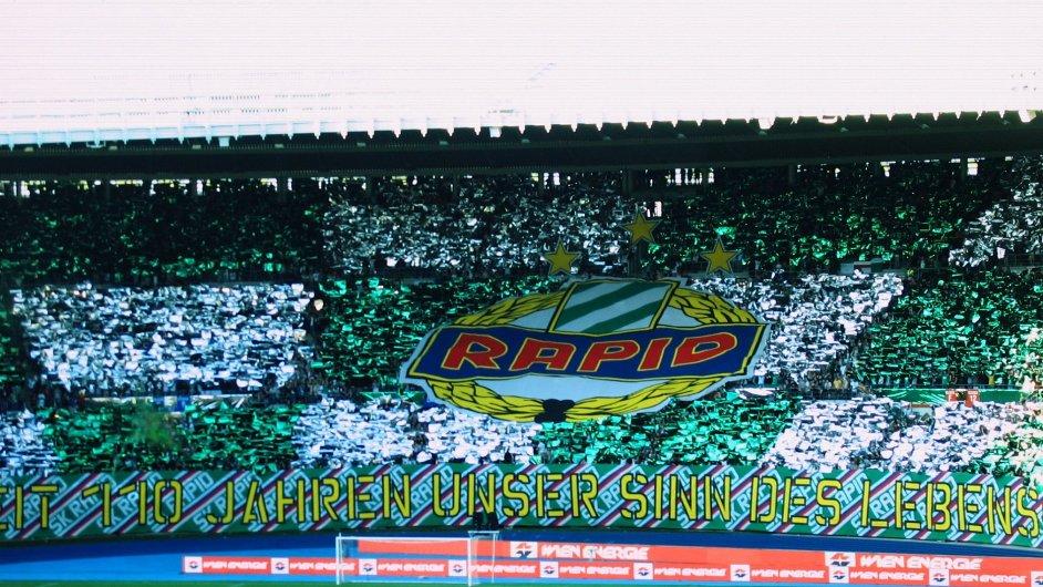Fanoušci Rapidu Vídeň.
