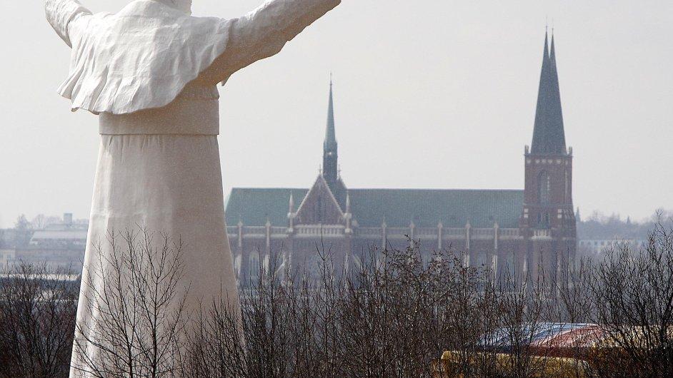 Socha Jana Pavla II. v Čenstochové