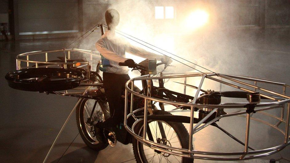 První úspěšný vzlet českého létajícího kola Flying Bike