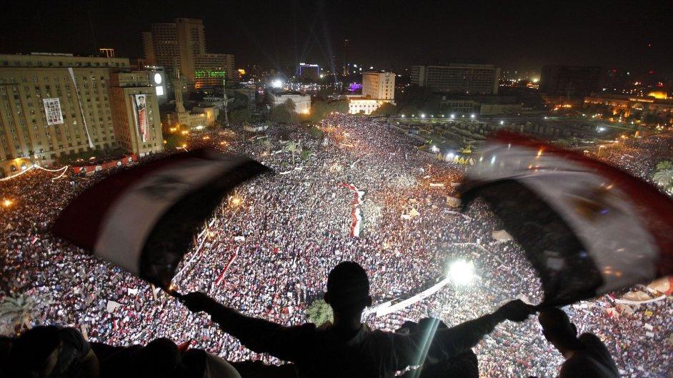 Protesty v Káhiře, ilustrační fotografie