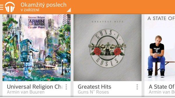 Slu�ba Hudba Google Play Naplno v mobiln� verzi