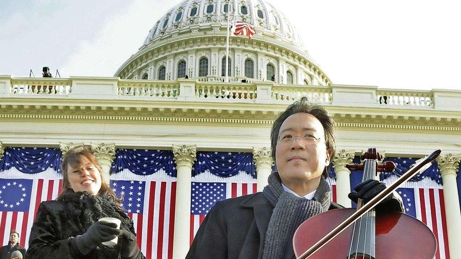Yo-Yo Ma hrál na Kapitolu při inauguraci prezidenta Obamy v roce 2009.