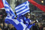 Řekové oslavují vítězství strany Syriza ve volbách.