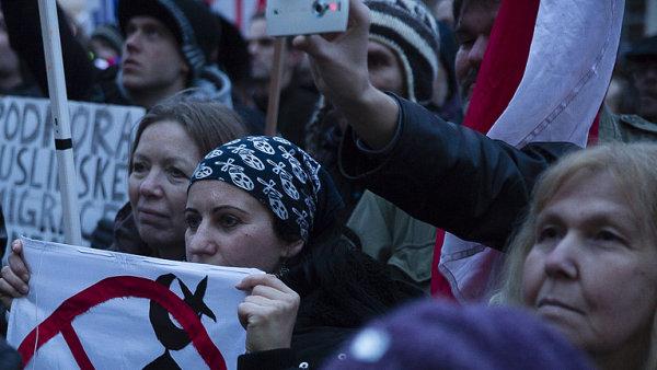 Demonstrace spolku Islám v ČR nechceme.