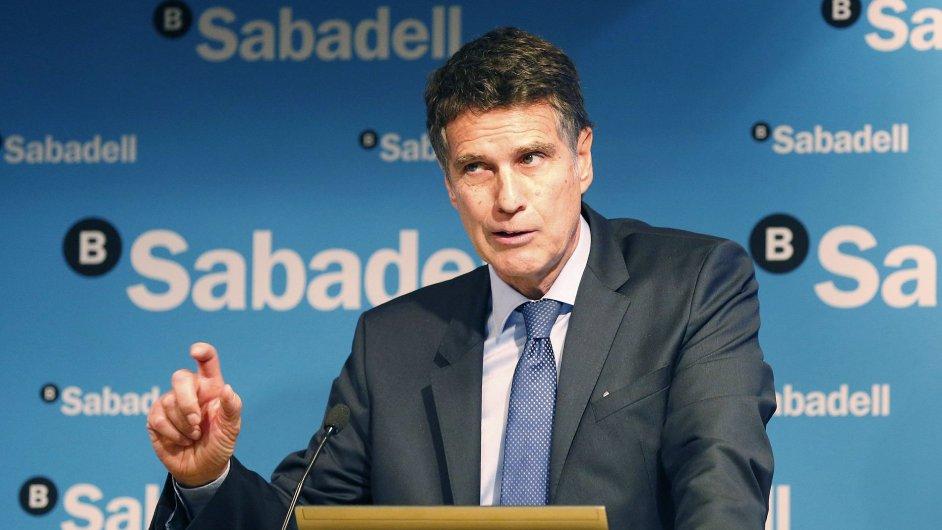 Generální ředitel španělské banky Sabadell Jaime Guardiola
