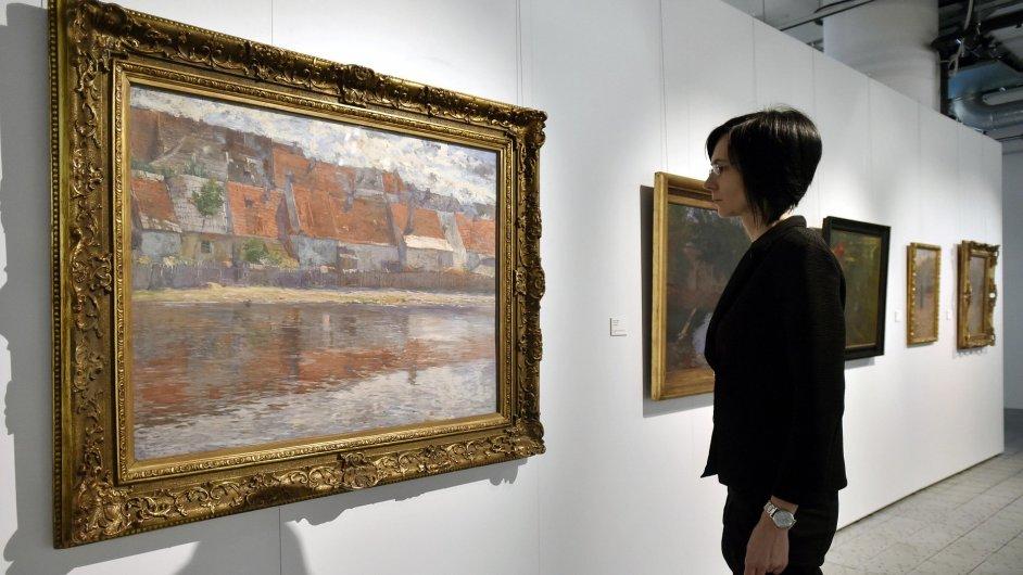 Snímek z výstavy Antonína Slavíčka