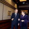 Tureck� prezident Recep Tayyip Erdogan a n�meck� kancl��ka Angela Merkelov�.