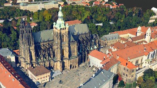 3D model Pražského hradu na Mapy.cz