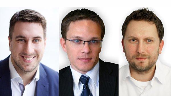 Tomáš Čupr, Christian Koller a Josef Gabaš, nejvyšší vedení Rohlik.cz
