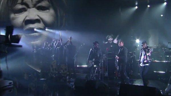 Snímek z vystoupení Gorillaz.