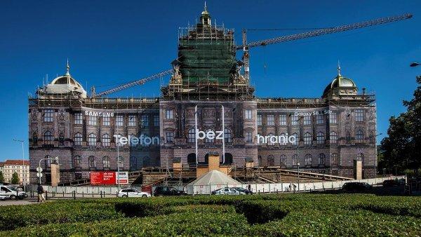 Reklama na Samsung Galaxy S8 na Národním muzeu