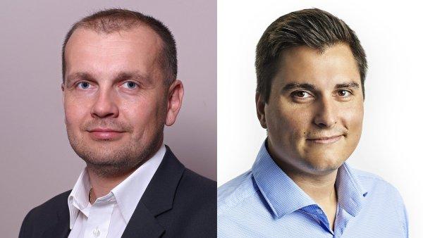 Jaroslav Kohoutek, finanční ředitel, František Kašpar, provozní ředitel společnosti DNS