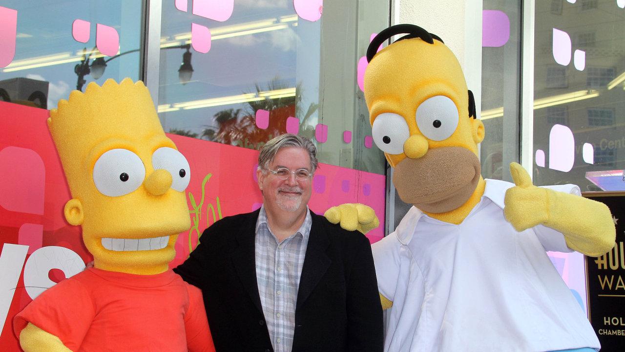 Matt Groening je na snímku ze slavnosti v Hollywoodu roku 2012.