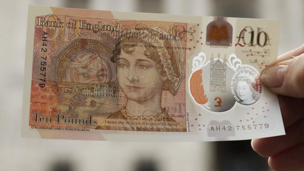 Británie, měna, bankovka.