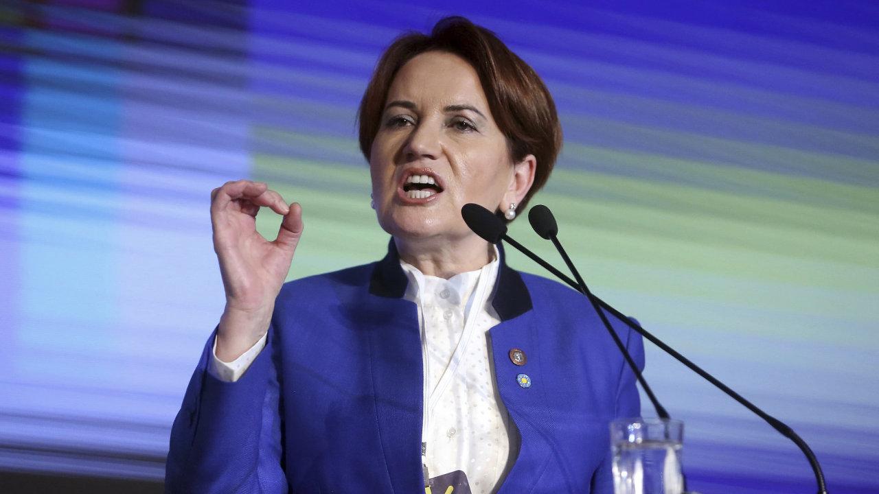 Turecká politička Meral Aksenerová se pokusí se svou Dobrou stranou snížit vliv současného prezidenta Erdogana. Parlamentní volby jsou v Turecku na programu v roce 2019.