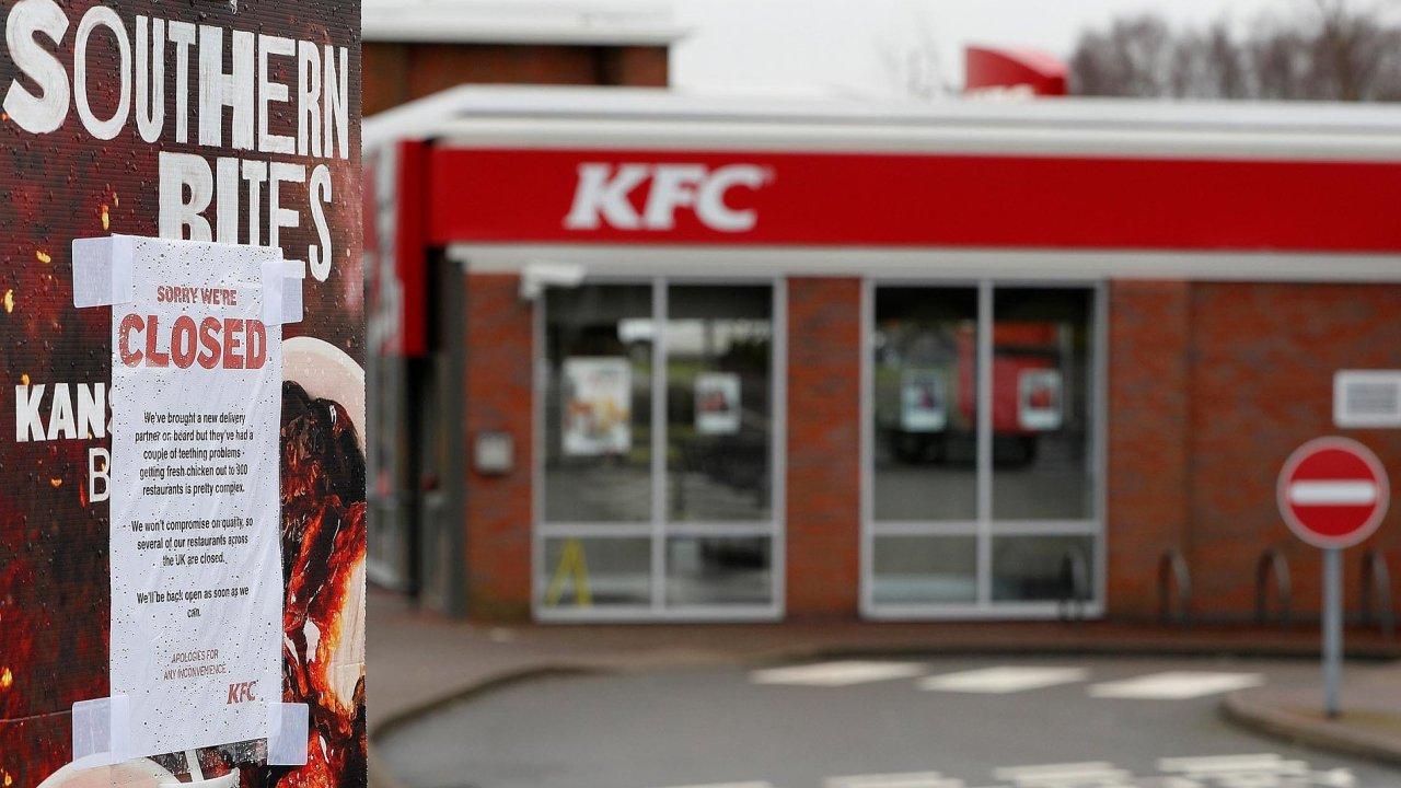 V pondělí 19. února byla zavřená i provozovna KFC ve městě Coalvillenedaleko Leicesteru.