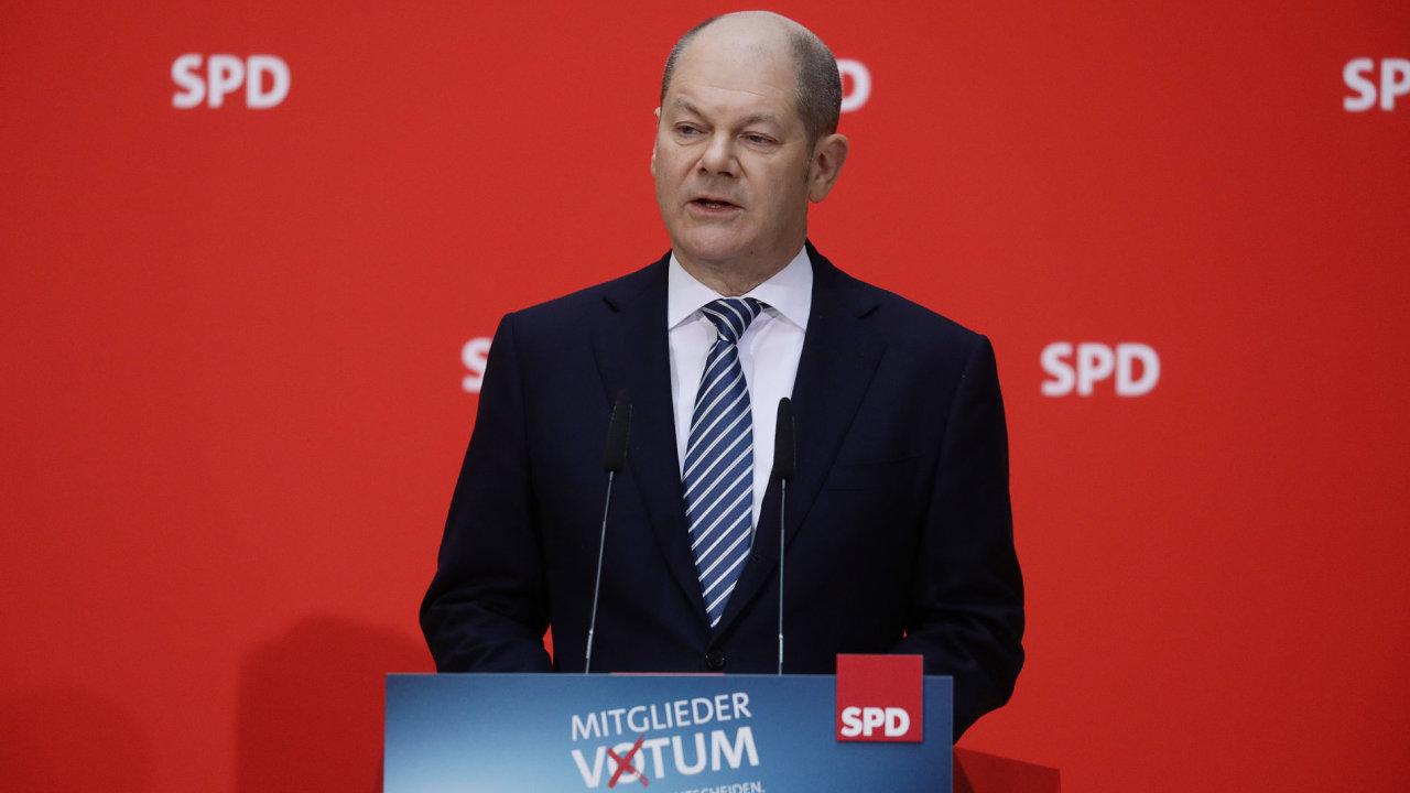 Úřadující předseda SPD Olaf Scholz