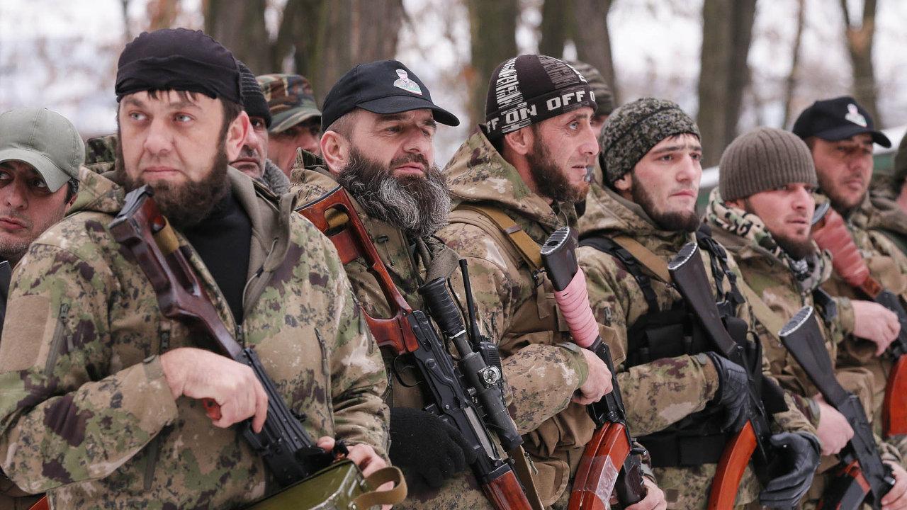 Separatisté na východní Ukrajině.