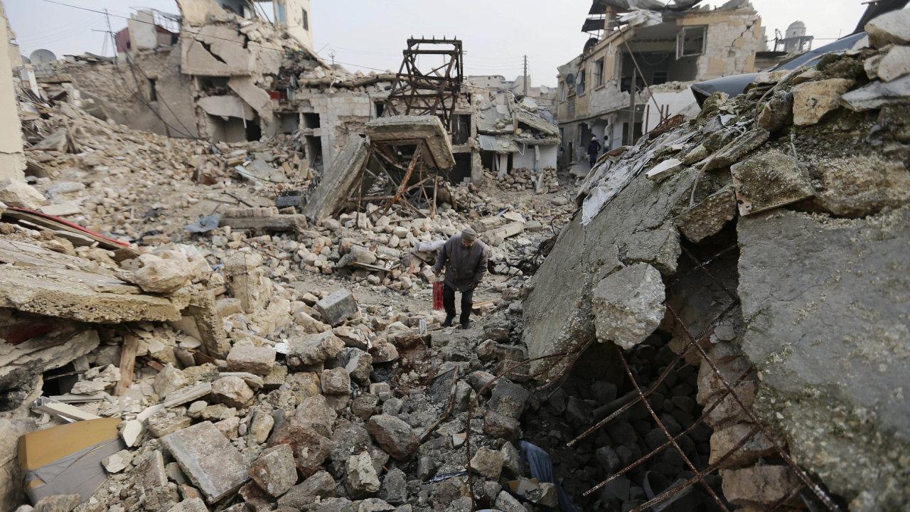 Boje v Aleppu v Sýrii.