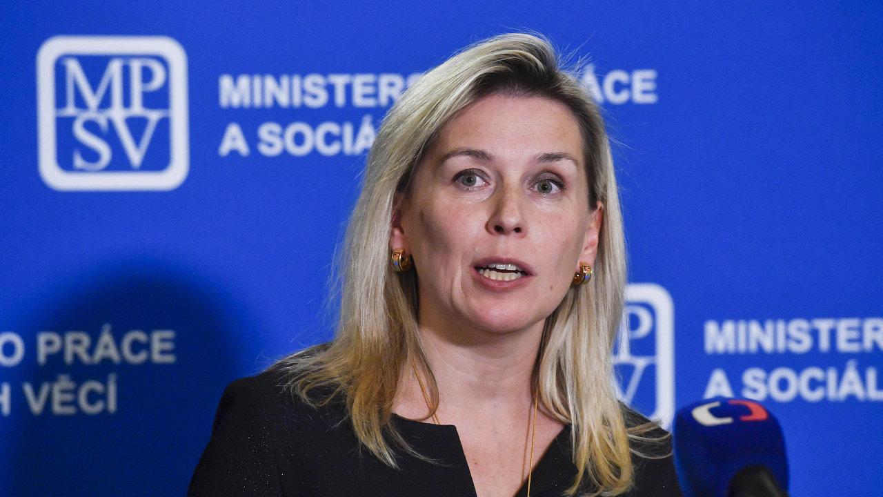 Předsedkyně komise pro spravedlivé důchody Danuše Nerudová vystoupila ve středu na tiskové konferenci v Praze.