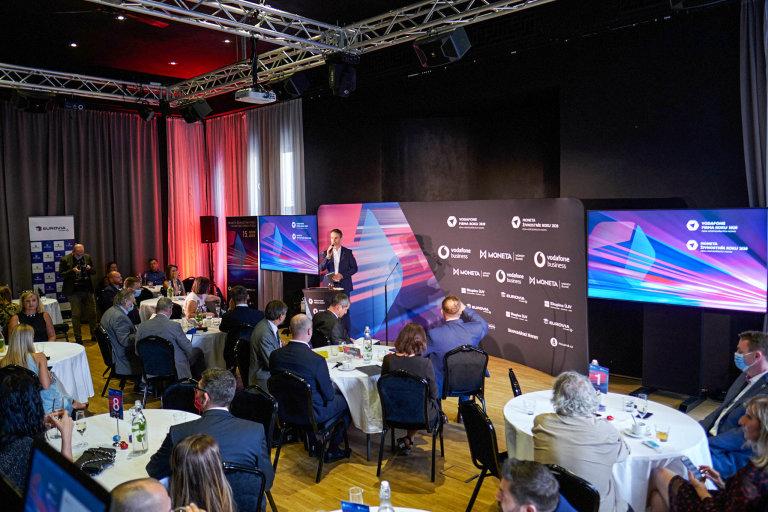 Vyhlašování Vodafone Firma roku 2020 aMONETA Živnostník roku 2020, Liberecký kraj