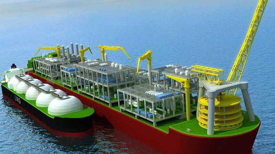 Plovoucí loď-továrna nazkapalňování zemního plynu firmy Shell nazvaná Prelude (Předehra) bude největším plavidlem nasvětě.