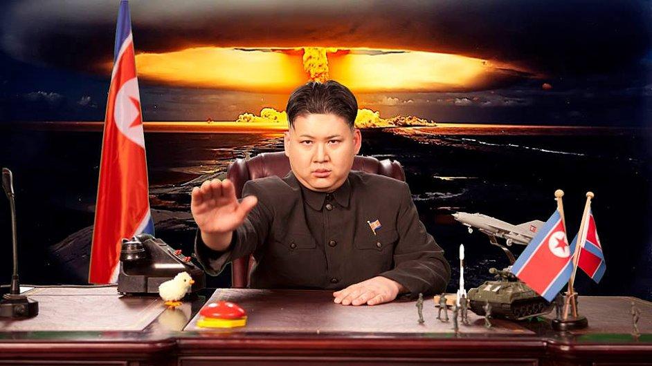 Imitátor severokorejského vůdce Kim Čong-una