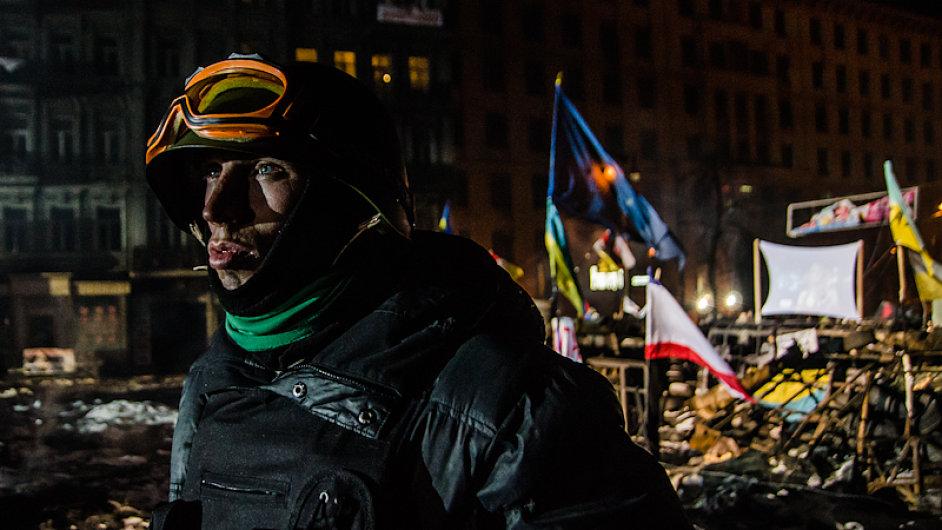 Protestní tábor v Kyjevě. Ilustrační foto