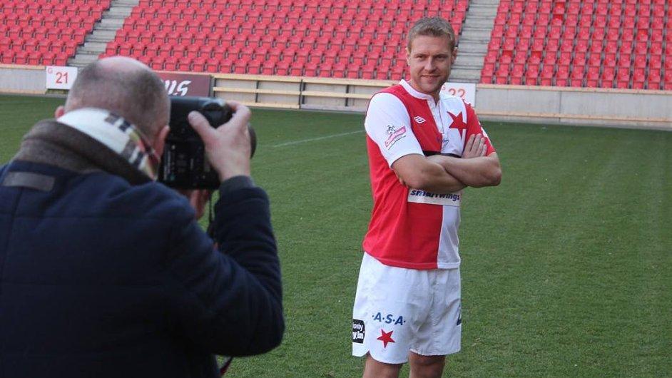 Karel Piták jako kapitán fotbalové Slavie