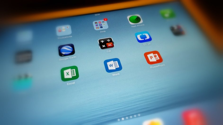 Aplikace Microsoft Office na iPadu