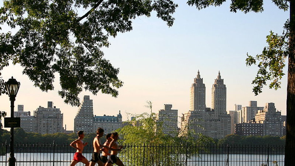 Jogging at the Central Park