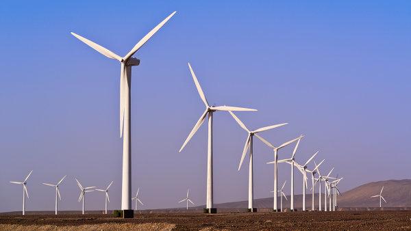 Větrná energie, ilustrační foto.